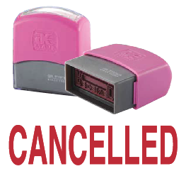 CANCELLED (10x38mm, AE stamp)