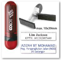 COLOP Mini Pocket stamp - RUBY