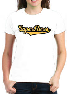 Super Nurse Tee 7- White