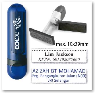 COLOP Mini Pocket stamp - INDIGO
