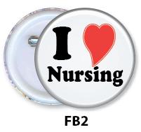 Nurse Button Badge - FB2