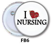 Nurse Button Badge
