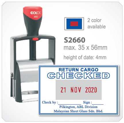 colop heavy duty S2660 (35mm x 66mm, 2 color available)