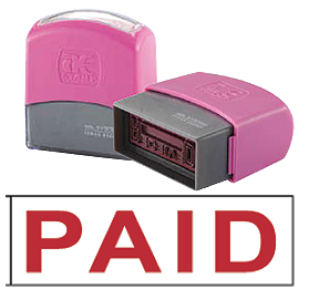 PAID (10x38mm, AE stamp)