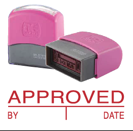 APPROVED (10x38mm, AE stamp)