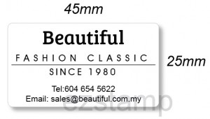 Plain Iron On Label (25x45mm)