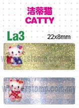 La3 洁蒂猫 CATTY name sticker 姓名贴纸
