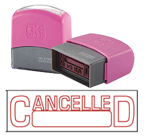 CANCELLED 2 (10x38mm, AE stamp)
