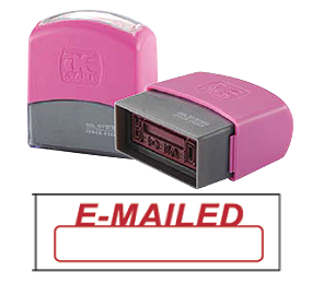 E-MAILED (10x38mm, AE stamp)