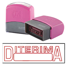 DITERIMA (10x38mm, AE stamp)