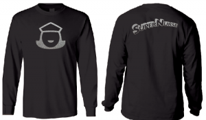 Super Nurse Tee 5 (Long Sleeve) - BLACK (silver)