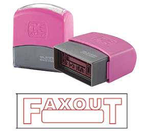FAX OUT (10x38mm, AE stamp)