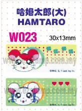 W023 哈姆太郎 (大) HAMTARO name sticker 姓名贴纸