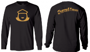 Super Nurse Tee 5 (Long Sleeve) - BLACK (Gold)