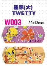 W003 崔弟(大) TWETTY name sticker 姓名贴纸