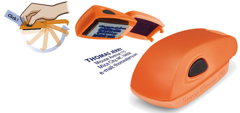 COLOP stamp Mouse 20 - Orange