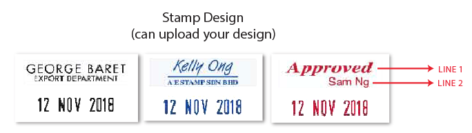 color dater stamp