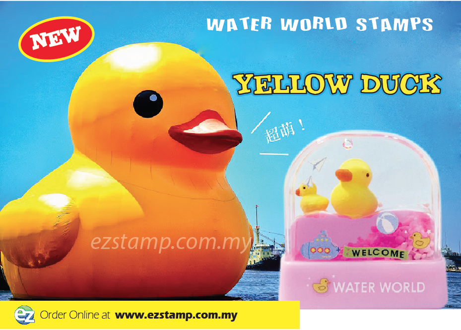 Water World Stamp - Yellow Duck WW16