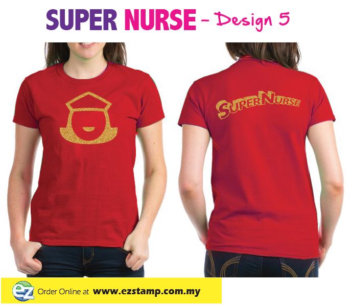 Super Nurse Tee 4- Orange (Gold)