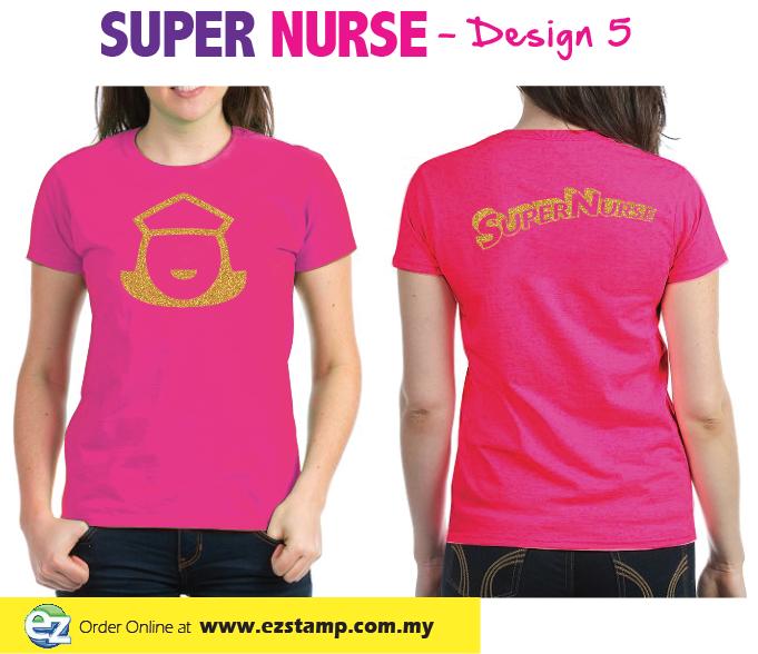 Super Nurse Tee 5- Magnenta (Silver)