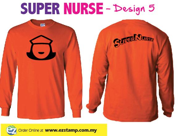 Super Nurse Tee 5 (Long Sleeve) - ORANGE (Bk)