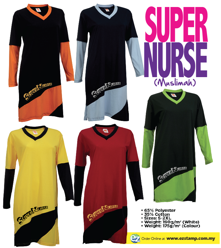 Super Nurse 3 Muslimah - YELLOW (Bk)