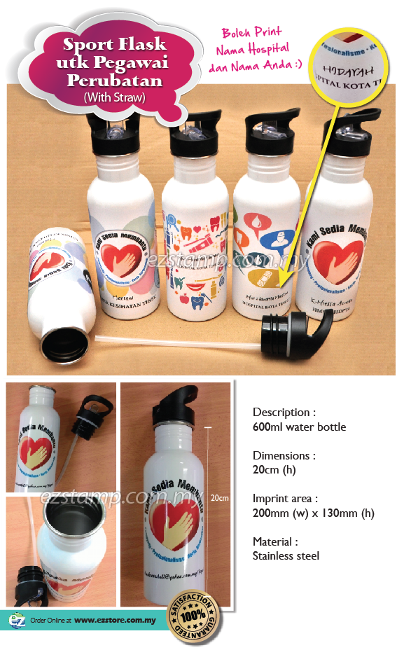 stainless Steel Sport Flask (Water Botol) for Nurses