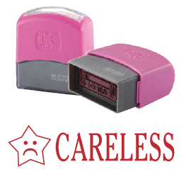 CARELESS (10x38mm, AE stamp)