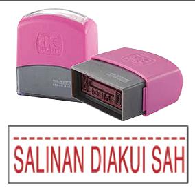 SALINAN DIAKUI SAH (10x38mm, AE stamp)