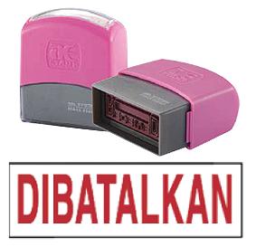 DIBATALKAN (10x38mm, AE stamp)