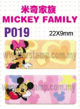P019 MICKEY FAMILY name sticker  姓名贴纸