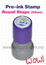 Pre-ink Stamp Round Shape - R2 series