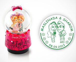 Stamp for Wedding, stamp untuk Kahwin, 婚礼印章,婚庆印章