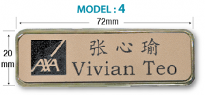 Name Tag  - Model 4 (72 x 20mm)