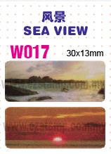 W017 风景 SEA VIEW name sticker 姓名贴纸