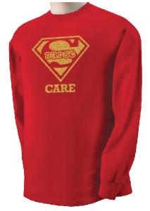 Super Nurse Care Tee 2 (Long Sleeve) - Red