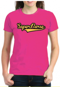 Super Nurse Tee 7- Magenta