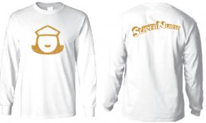 Super Nurse Tee 5 (Long Sleeve) - WHITE (Gold)