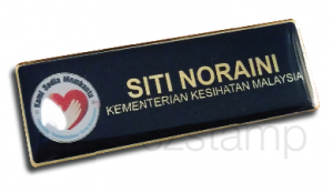 epoxy name tag-gold brush