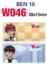 W046 Ben 10 (大) name sticker 姓名贴纸