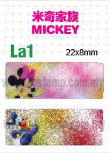 La1 米奇家族 MICKEY name sticker 姓名贴纸