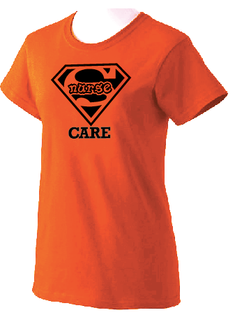Super Nurse Care Tee 2- Orange