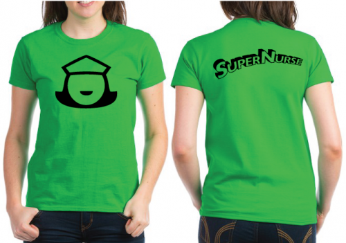 Super Nurse Tee 5- Lime Green (Bk)