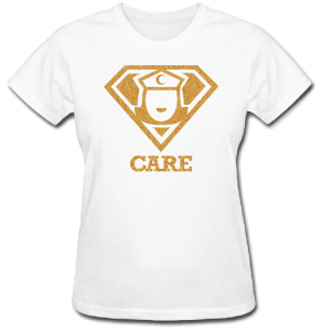 Super Nurse Care Tee 1- White