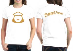 Super Nurse Tee 5- White (Silver)