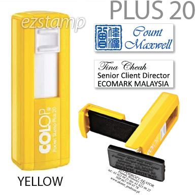 COLOP Pocket PLUS 20 - YELLOW