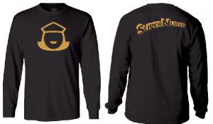 Super Nurse Tee 5 (Long Sleeve) - BLACK (Gold)