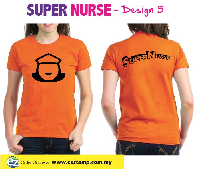Super Nurse Tee 4- Orange