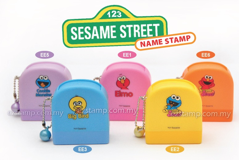 sesame street name stamp