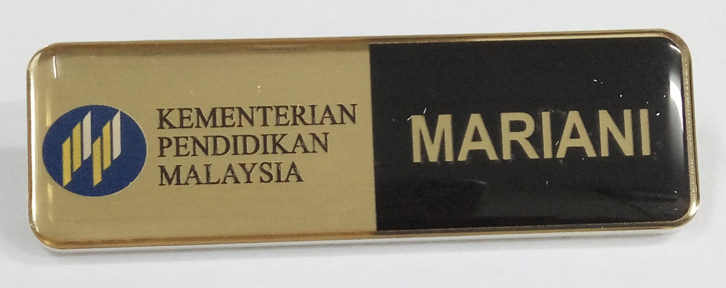 Epoxy Name Tag- KPM 2 (25x74mm)